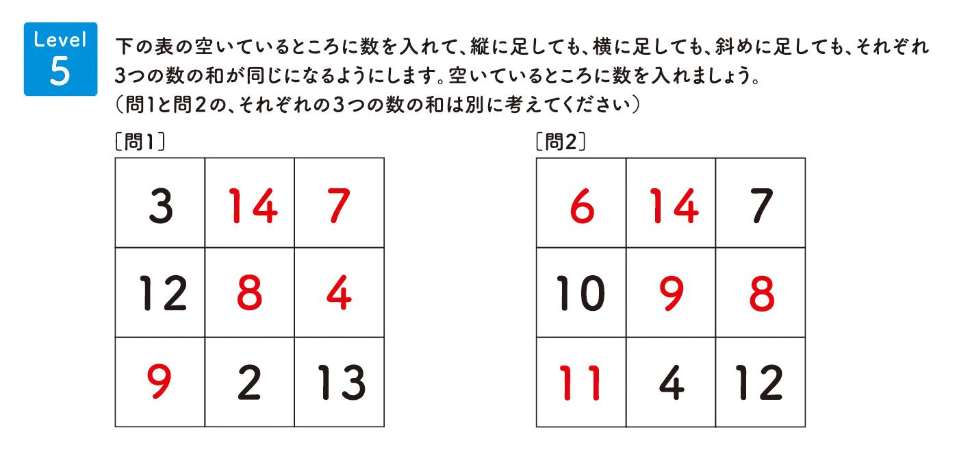 パズル道場チラシ掲載問題5の解答